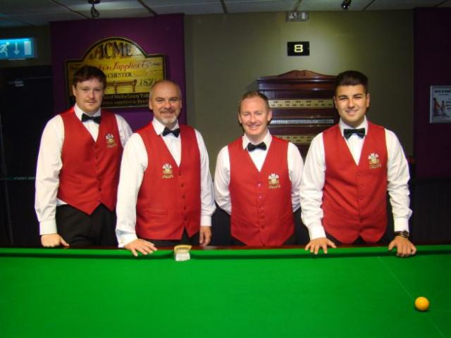 Matt Roberts, Darren Morgan, Rhydian Richards and Jamie Clarke